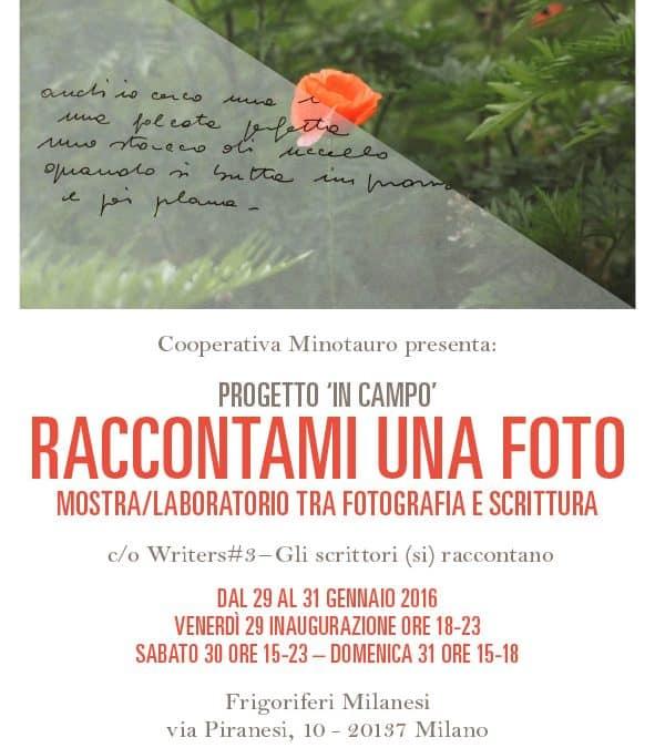 Raccontami una foto – Progetto In campo 29-31/01/2016