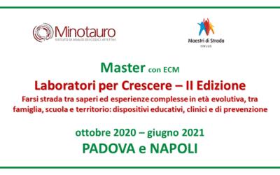 """Apertura iscrizioni master """"Laboratori per crescere"""""""